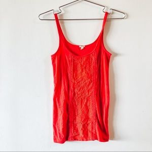 Red Ribbon Strappy Tank